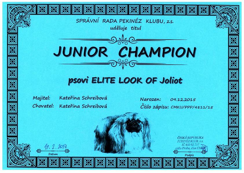 Junior champion PK - ELITE LOOK OF Joliot