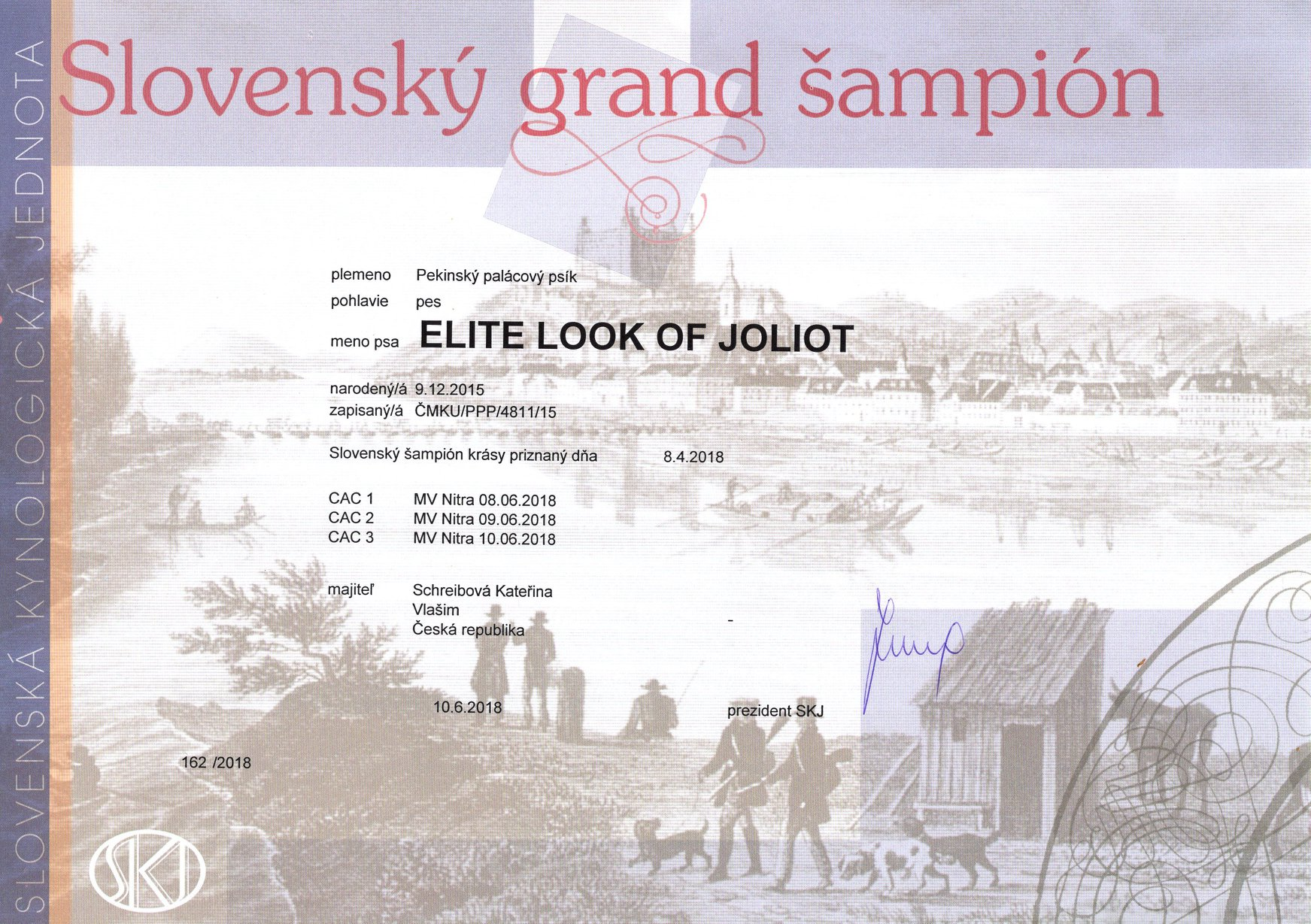 Grand Champion SK - ELITE LOOK OF Joliot